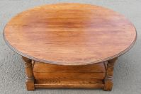 Large Round Oak Coffee Table - SOLD